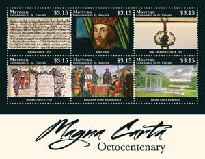 Mayreau 2015 - Magna Carta 800th Anniversary - Sheet of 6 Stamps - MNH