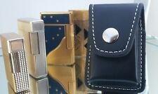 Black Leather Case To fit ST DuPont Lighters Models Line 1, 2, D, 8, Gatsby NEW