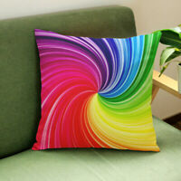 New 1PC Colorful Back Cushion Cover Throw Pillow Case Car Home Sofa Office Decor