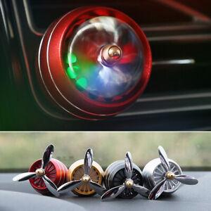 LED Light Propeller Shape Odor Removal Car Perfume Air Freshener Aromatherapy