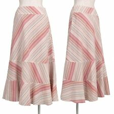 Jocomomola Cotton Stripe Skirt Size 40(K-40130)