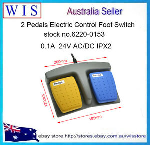 Herga 2 Pedals Electric Foot Pedal Switch Momentary NO 0.1A@ 24 V AC/DC,IPX2