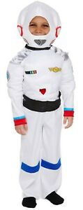 Space Boy Fancy Dress Up Costume Astronaut Boys Outfit World Book Day