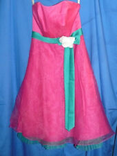 Alfred Angelo Formal Gown Dress Prom Wedding Fushia Strapless 2 GREAT CONDITION!