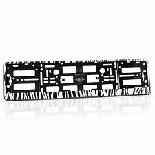 2 x Zebra Number Plate Holders Frames Licence Plate Surrounds for Any Car