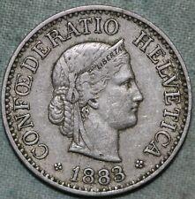 1883 Switzerland 10 Rappen KM# 27