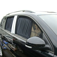 2X 70cm Black Adjustable VIP Car Window Mesh Style Curtain UV Sunshade Visor 70S