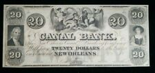 1800's $20 Canal Bank of New Orleans Obsolete Bank Note