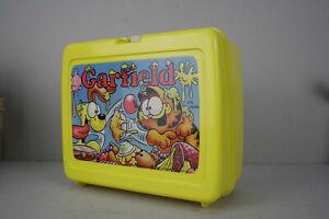 vintage Garfield Lunch Box Vesperdose Kunststoff 80er Jahre