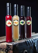 Fresh Fruit Vinegars 4 Pack White Peach, Raspberry, Blackberry, Cherry