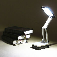 Rechargeable Foldable 17 LED Desk Light Table Lamp Bedside Book Reading 2 Mode