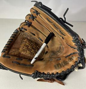 "Wilson Staff AO700 ST125 Baseball Softball Glove RHT Ecco Leather Strap 12 1/2"""