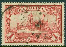 EDW1949SELL : CAROLINE ISLAND 1901 Scott #16 Very Fine, Used. Catalog $62.00.