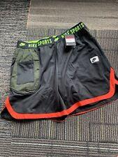 Nike Sportswear Sport Clash Shorts NEW BV3249-010 Black Red Green Sz Large Mens