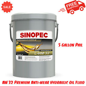 AW 32 Premium Anti-wear Hydraulic Oil Fluid - 5 Gallon Pail (18L - 4.75 GAL)