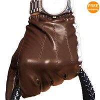 New Men's Touchscreen Sheepskin Leather Gloves Thin/Thick Lining (PALM;19-22cm)