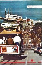 Original vintage poster SAN FRANCISCO CABLE CAR  AIR CANADA c.1980