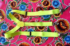 Vintage fluorecent lime braces suspenders with button fastening mod