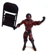 "WWF WWE TNA Wrestling BOOKER T Mattel  6"" toy figure & chair accessory RARE"