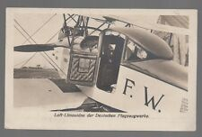 "[51446] OLD GERMAN POSTCARD GERMAN AIRCRAFT ""LUFT LIMOUSINE"" AIR-SEDAN"