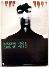 TALKING HEADS 1979 original POSTER ADVERT FEAR OF MUSIC Sire DAVID BYRNE