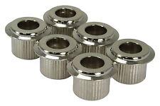 AllParts 10mm Conversion Bushings Set of 6 Nickel