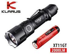 New Klarus XT11GT USB charge Cree XHP35 HD E4 2000 Lumens LED Flashlight w/18650