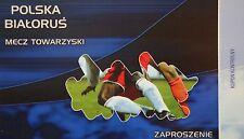 VIP TICKET 9.2.2005 Polska Polen - Belarus