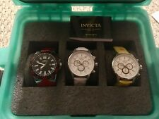 INVICTA 3 MEN'S WATCHES RED 23481, WHITE 24083 AND YELLOW 24081
