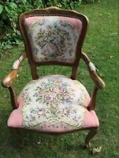 FAUTEUIL CHAISE ACCOUDOIRS CABRIOLET ROCOCO TYPE LOUIS XV OU VOLTAIRE CHAIR