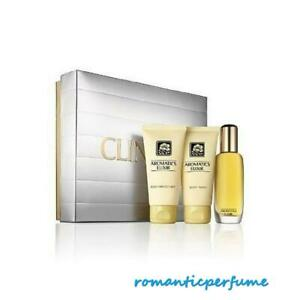 Aromatics Elixir Women Clinique 3.4 oz EDP + 2.6 oz Body Cream +2.5 oz Body Wash