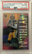 PSA 10 Gem Mint 2019 Donruss Optic Aaron Rodgers Mythical Prizm Holo Packers