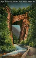 Postcard Natural Bridge in Natural Bridge, VA Posted 1958