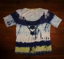 BiBA Shirt Top Gr. 0 (34-36) m.Perlenstickerei blau,gelb,weiß