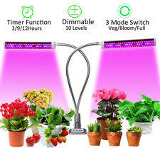 JCBritw 75W Plant Light Dimmable Auto On & Off Clip LED Grow Light Full Spectrum