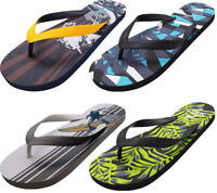 Norty Men's Graphic Print Flip Flop Thong Sandal for Beach, Pool or Everyday