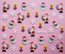 Accessoire ongles : nail art- Stickers noël : père noël , flocons , bougies