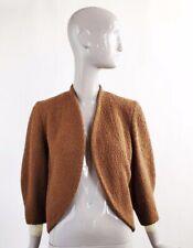 Vtg Vintage 1940s 40s Forstmann Brown Wool Boucle Jacket Sz S/M