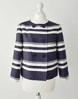 Nicole FARHI Cotton and Silk Blue and White Stripe Blazer Jacket Size 10 Wedding