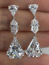 Stone Cz Statement Silver Rhodium Long Earrings Dani by Daniel K Fancy Cut 3