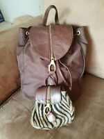 Saks Fifth Avenue Brand Brown Backpack Bag Purse Combo