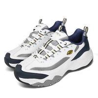 Skechers D Lites 3.0-Merriton White Navy Grey Men Chunky Daddy Shoes 52684-WNVG