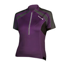 ENDURA HUMMVEE Womens Ladies Short Sleeve Cycling Jersey Purple Size: L, UK14-16