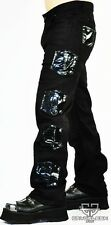 Cryoflesh Paragon Cyber Ribbed Moto Goth Punk Rave Industrial Tactical EMO Pants