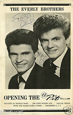 EVERLY BROTHERS Autographed Handbill - Rock & Roll Singers - Preprint
