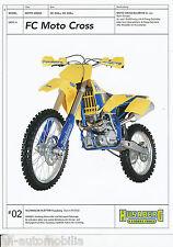 Prospekt Husaberg FC Moto Cross 550/4 550/6 9/02 (D) Technisches Blatt  brochure