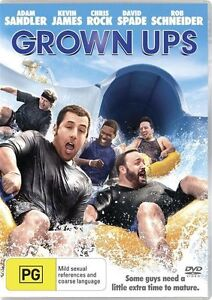 Grown Ups Adam Sandler Region 4 DVD Brand New