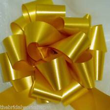 20 Gold Wedding Flowers Prom Party Florist Ribbon Pull Bows Car Pew End