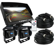 "2x Truck Bus IR Rear View Back up Camera Night Vision System+7"" Monitor RV Sale"