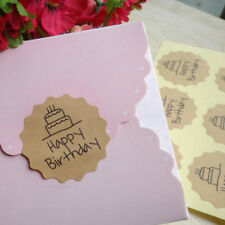 120X birthday label sealing adhesive sticker craft wrapping gift handmade DIY  X